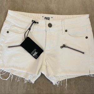 Paige Cut-Off Denim Shorts Size 24 Off-White